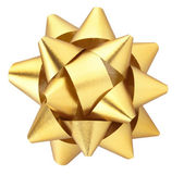 Gold gift bow — Stock Photo