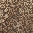 Leather floral pattern — 图库照片