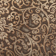 Stock Photo: Leather floral pattern