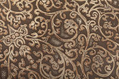 Leather floral pattern — Stock Photo