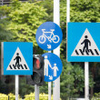 Road signs with traffic signals, at shenzhen, china — Stock Photo