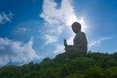 Giant Buddha sitting on hill, Hong Kong, china — Stock Photo
