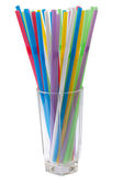 Tube for a cocktail, glass — Stock Photo
