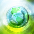 Blue and green earth background — Stock Photo
