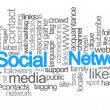 Social network tag cloud — Stock Photo #7690539