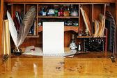 Old writing desk — Stock Photo