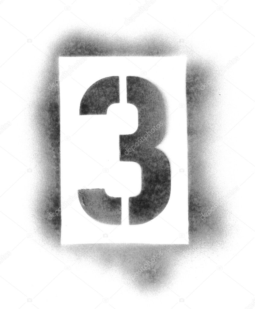 stencil numbers in spray paint stock photo ssilver 7690163. Black Bedroom Furniture Sets. Home Design Ideas