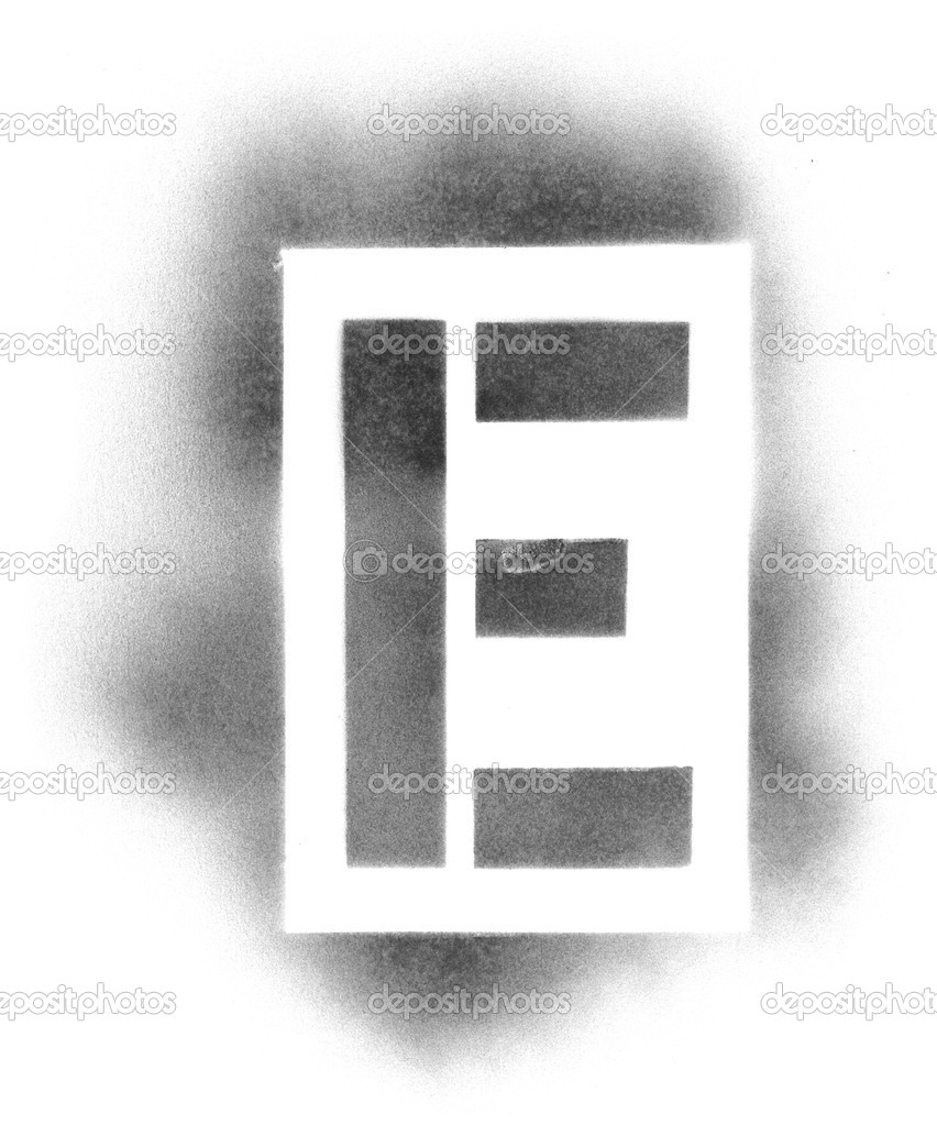 stencil letters in spray paint stock photo ssilver 7690197. Black Bedroom Furniture Sets. Home Design Ideas
