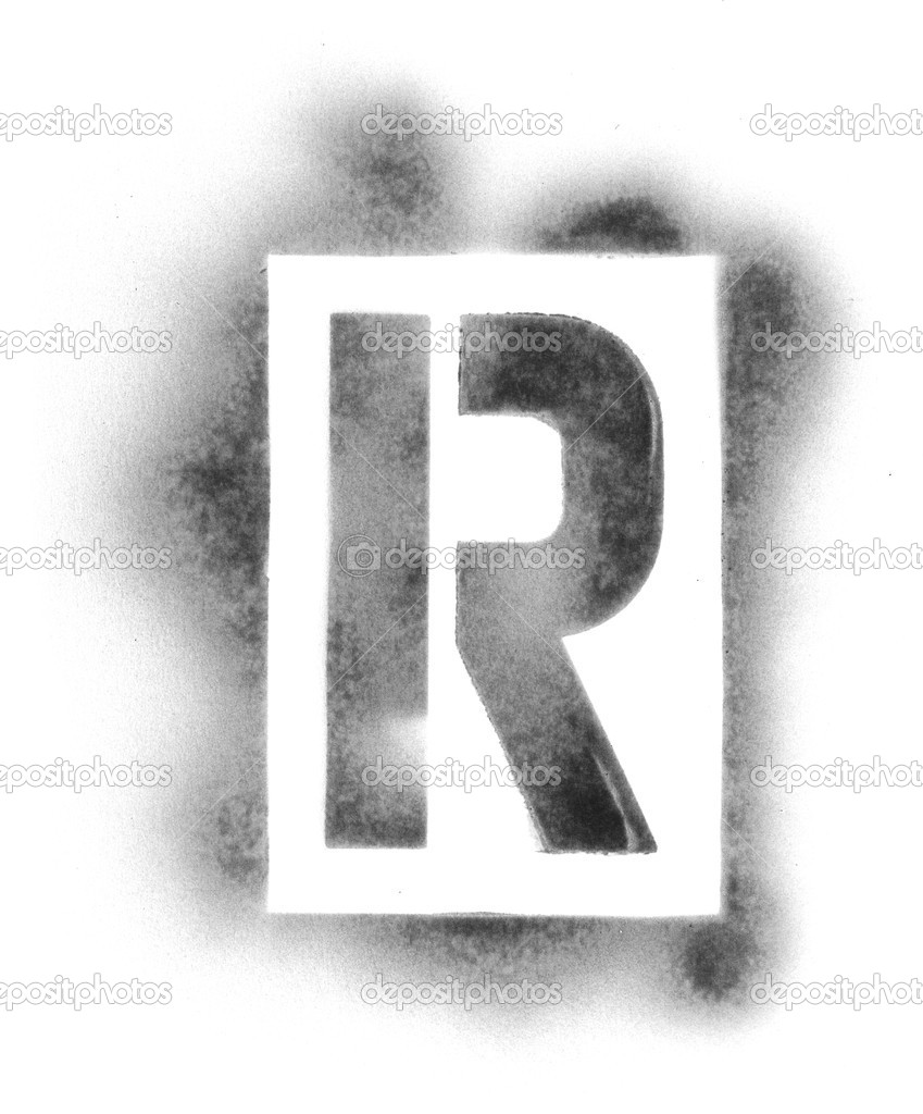 stencil letters in spray paint stock photo ssilver 7690250