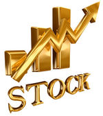 Gold bars stock diagram — Stock Photo