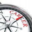 Stock Photo: Career way indicated by compass conceptual image