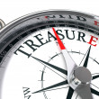 Stock Photo: Discover treasure conceptual image with compass