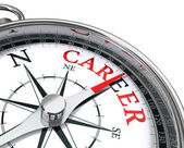 Career the way indicated by compass conceptual image — Stock Photo