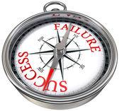Success vs failure compass, business concept — Stock Photo