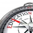 Education compass — Stock Photo