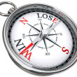 Win lose concept compass — Stock Photo #7301585