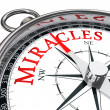 Miracles concept compass — Stock Photo