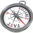 Stock Photo: Fast vs reliable concept compass