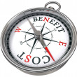 Benefit cost concept compass — Stock Photo #7302111