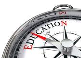 Onderwijs kompas — Stockfoto