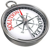 Solution problem concept compass — Stock Photo