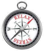 Relax stress concept compass — Stock Photo