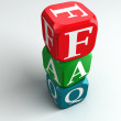 Stock Photo: Faq 3d colorful buzzword