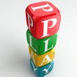 Play 3d colorful buzzword tower — Stock Photo #7478691