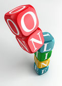 Online 3d colorful cube tower — Stock Photo