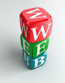 Web sign 3d colorful buzzword — Stock Photo