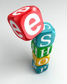 Eshop sign 3d colorful buzzword — Stock Photo