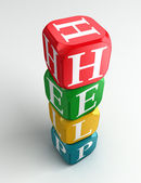 Help 3d colorful buzzword — Stock Photo