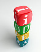 Torre di buzzword colorato 3d idea — Foto Stock