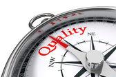 Quality concept compass — Stock Photo