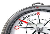Opportunities concpept compass — Stock Photo