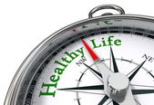 Healthy life concept compass — Stock Photo