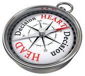 Heart vs head decision dilemma — Stock Photo