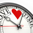 Royalty-Free Stock Photo: Love time concept clock