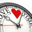 Love time concept clock — Stock Photo