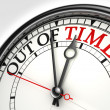 Royalty-Free Stock Photo: Out of time concept clock
