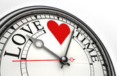 Love time concept clock — Stock Photo