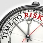 Risk time concept clock closeup — Stock Photo #7784539