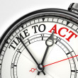 Time to act concept clock — Stockfoto