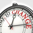 Time to change concept clock — Stock Photo