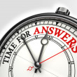 Answers time concept clock — Stock Photo #7784847