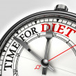 Diet time concept clock — Stock Photo