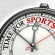 Time for sports concept clock — Stock Photo