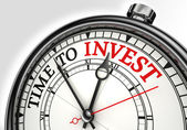 Time to invest concept clock — Stock Photo