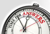 Answers time concept clock — Stock Photo