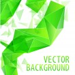 Stock Vector: Green triangle abstract vector